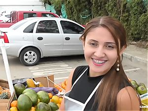 CARNE DEL MERCADO - curvy Colombian new-cummer pounded deep