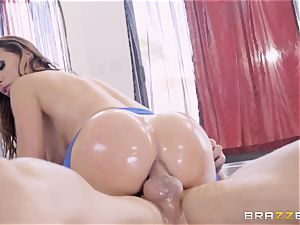 kinky lubricated up Nikki Benz thrashed in her donk