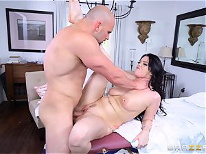 Smoking hot dark haired Ryan smirks well-lubed up and smashed