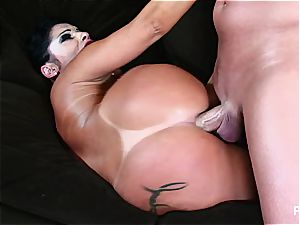 Monica pulverized up her ample backside
