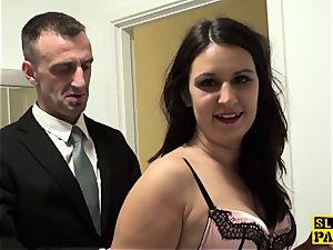 brit marionette bitch Sophie Garcia railing male domination