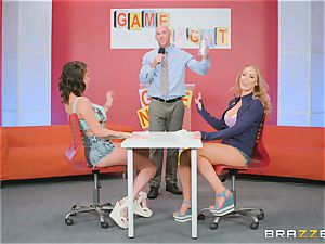 Gameshow gets a bit frolic with Nicole Aniston and Peta Jensen