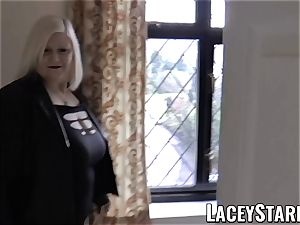 LACEYSTARR - Mature English stunner screwed and facialized