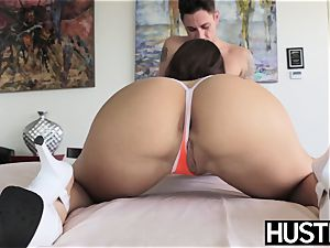 uber-cute Lana Rhoades cunt spread by harsh penetrating pipe