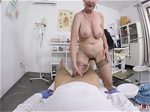 buxom grandmother gets pov plumbed by her medic