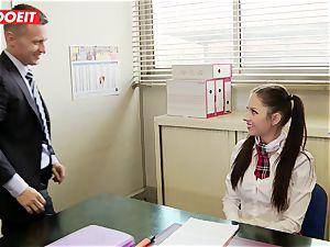 LETSDOEIT - Rebecca Tricks Academy Principal Into orgy