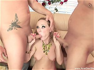 double penetration threesome With ass-fuck milf