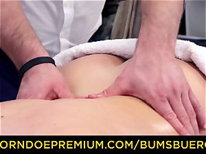 booties BUERO - Spicy blondie lubed and plumbed by masseur