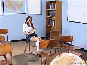 Darling college girl Dillion Harper gets plowed by her lecturer