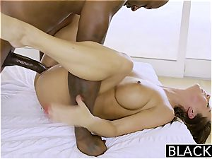 Abigail gets exhilarated over a ebony dudes' fuck-stick