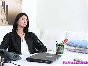 FakeAgentUK small UK stunner tries first-ever time anal invasion