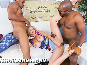 BLACKSONMOMS - Julia Ann Wins three giant prizes (xa15147)