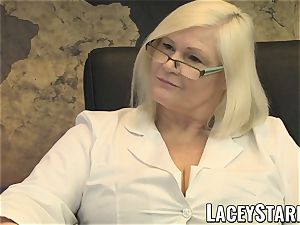 LACEYSTARR - GILF munches Pascal milky jism after orgy