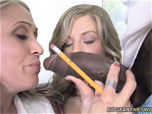 Sasha Sky And innocence Lynn Share A big black cock