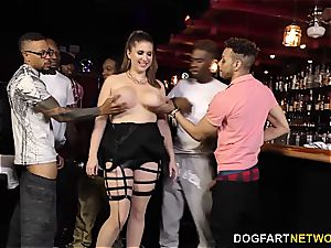 bbc mega-slut Alex chance attempts multiracial Ganbang