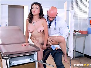 Cytherea is left spurting as she visits the physician