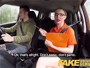 faux Driving college exam failure leads to super-steamy hook-up