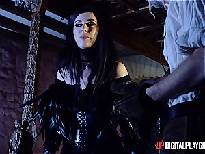 Danny D fools around as Geralt and screws black-haired stunner