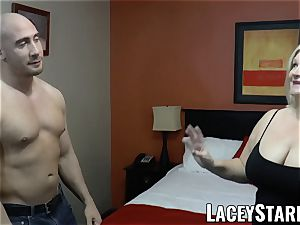 LACEYSTARR - GILF tempts thick dicked otter into fuckin'