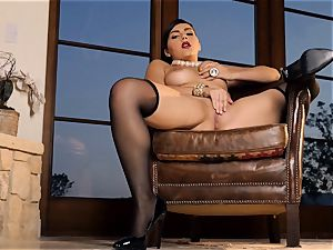 spunky babe Valentina Nappi looks impressive as she plays