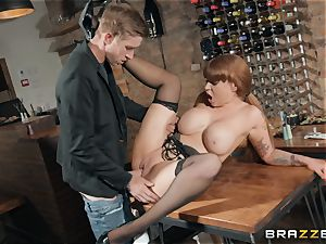 Danny ramming his hefty wood into molten redhead