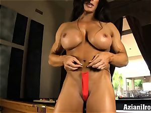 horny fit gals uses dildo on fat bean