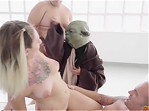 Spanish slut Yuno enjoy gets pummeled by Chewbacca, Yoda and an ewok