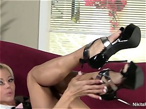 mind-blowing Nikita von James knows how to tease the camera