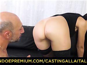 casting ALLA ITALIANA - messy newcummer ass-fuck audition