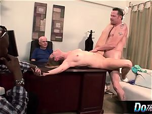super-steamy wife Daisy Layne pounds and tongues jizz