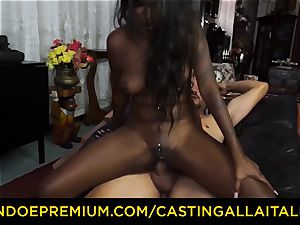 audition ALLA ITALIANA - Indian babe gets ample manhood ass fucking