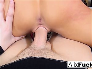 Alix makes fine use of a fat manstick