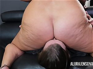 huge-chested milf Alura Jenson has her giant ass worshipped