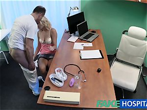 FakeHospital ash-blonde patient toying with her cunny