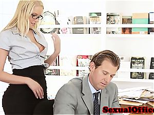 cutie secretary takes her manager' shaft for a ride
