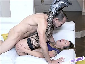 Sophia mercy gets her cootchie with a weenie deeply sunk in her