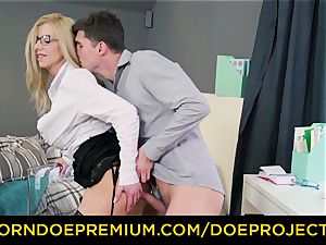 horny teacher - busty cougar gets drilled by her student