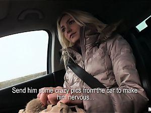 Victoria Puppy gets a strangers trunk deep inside her
