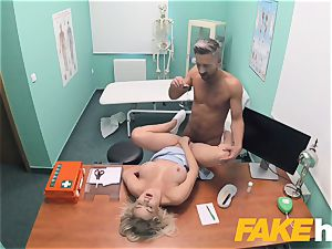fake polyclinic rapid porking gives blonde fat fun bags british