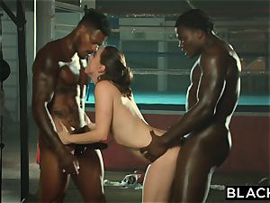 BLACKED Tori ebony Is lubed Up And predominated By 2 BBCs