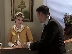 super-sexy receptionist Katie Summers romps at work