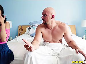 step-father caught watching porn by her step-daughter Kiley Jay