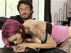 tatted Sn 4 Anna Bell Peaks spooned in her moist crevice