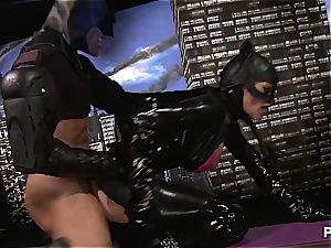 spunking all over Catwoman