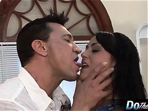 Mahina Zaltana fucks in a porno dude for her spouse