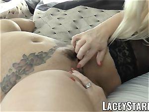 LACEYSTARR - biz GILF tongue examines youthful vag