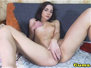 jaw-dropping damsel Plays her tight gash