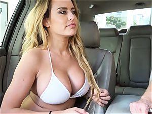 Corrina Blake delivers an in car thankyou pound