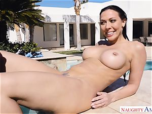 Rachel Starr bounces her raw puss on Johnnys firm fuck-stick