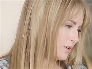 Ayumi Anime romps the pussy of Scarlett Sage with a strap-on